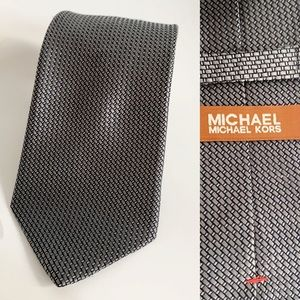 Michael Michael Kors Offie Work Grey Bleu Silk Tie